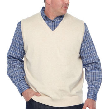 Big Tall Size Sweater Vests For Men Jcpenney