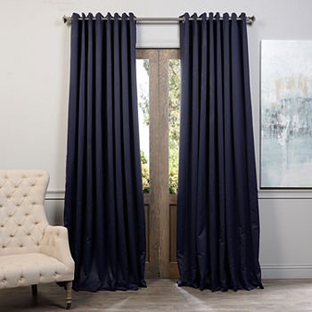 Exclusive Fabrics Furnishing Grommet Top Extra Wide Blackout Curtain Panel