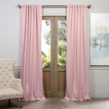 Geometric Pink Curtains & Drapes for Window - JCPenney