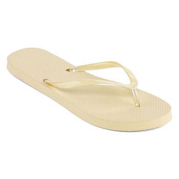 8d045a44f Flip-flops Yellow Women s Sandals   Flip Flops for Shoes - JCPenney