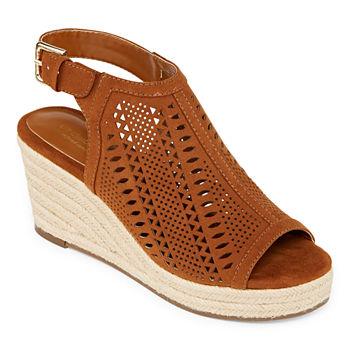 Womens Claiborne Sandals Hardie Liz Wedge OPZTiXuk