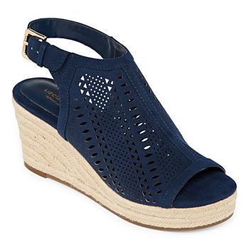 56e711a95dff Wedge Sandals Blue All Women s Shoes for Shoes - JCPenney