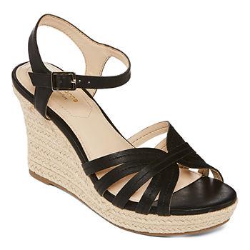 deeec0f4778 Liz Claiborne Black All Sandals   Flip Flops for Shoes - JCPenney