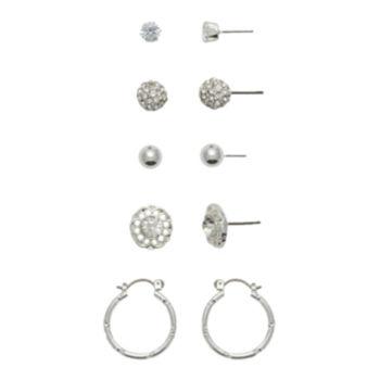 Jcp 9 Pair Multi Color Earring Sets cNcqV5r7E