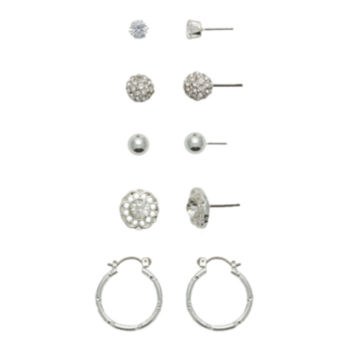 Jcp 9 Pair Multi Color Earring Sets