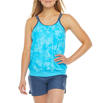Free Country Tie Dye Tankini Swimsuit Top