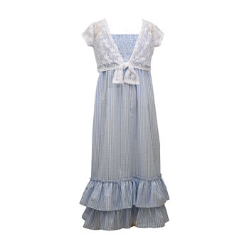 Bonnie Jean Little & Big Girls Sleeveless Striped Maxi Dress