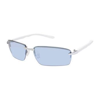 Arizona® Semi Rimless Backframe Slim Rectangular Sunglasses