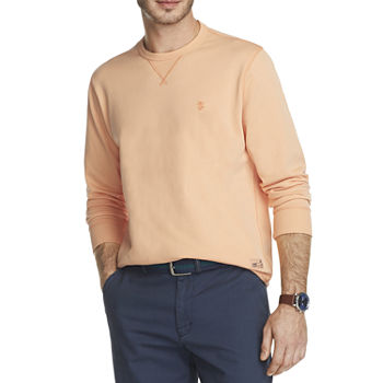 IZOD Saltwater French Terry Mens Crew Neck Long Sleeve Sweatshirt