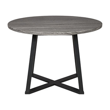 Signature Design by Ashley Collins Dining Collection Round Wood-Top Dining Table