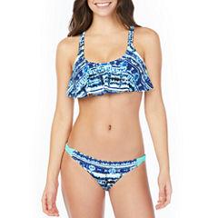 Arizona Tie Dye Flounce Swimsuit Top or Hipster Bottom-Juniors
