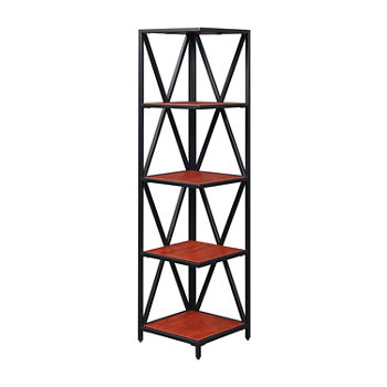 Tucson Home Office Collection 5-Tier Corner Bookcase