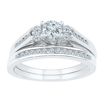 no color - Diamond Wedding Ring Sets