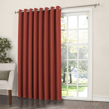 Energy Saving Red Door Curtains For Window Jcpenney