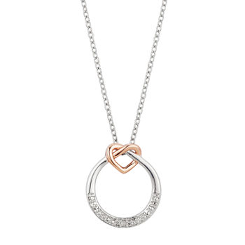 Sparkle Allure Diamond Accent 16 Inch Link Heart Pendant Necklace