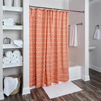 orange and teal shower curtain. Orange  23 99 Sale Shower Curtains For Bed Bath JCPenney
