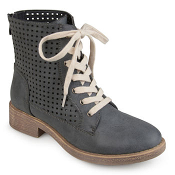 361a8ba731f4d Combat Boots Gray Women s Boots for Shoes - JCPenney