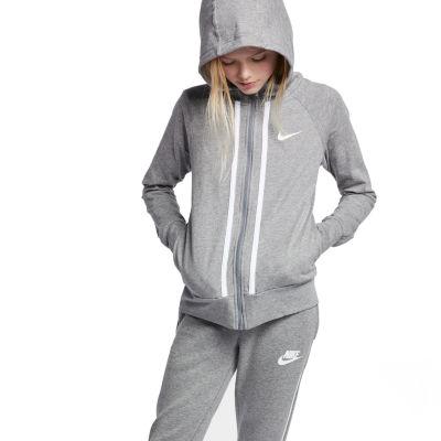 Nike Long Sleeve Full,Zip Jersey Hoodie , Big Kid Girls 7,16