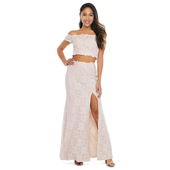 My Michelle Prom Short Sleeve Dress Set