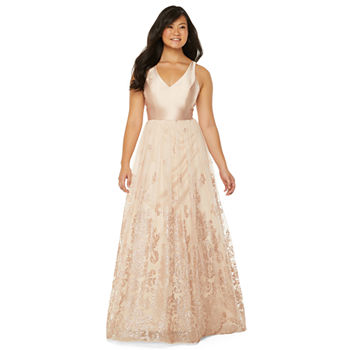 City Triangle Sleeveless Embellished Ball Gown-Juniors