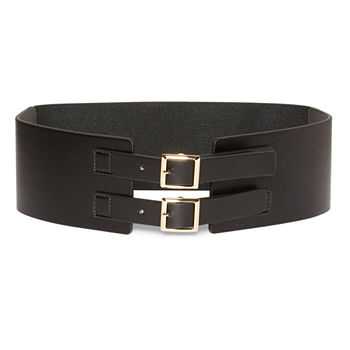 Worthington Double Buckle Stretch Womens Belt