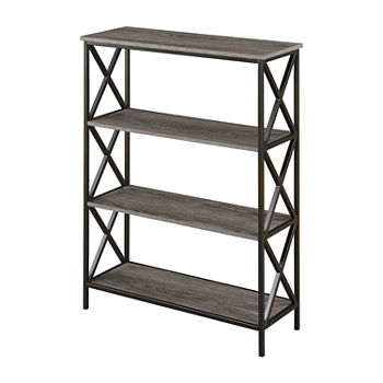 Tucson Home Office Collection 4-Tier Bookcase