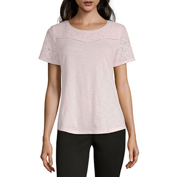 21c9f1689ad Liz Claiborne Pink Tops for Women - JCPenney