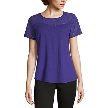 8650afddd3fc8a Purple Tops for Women - JCPenney