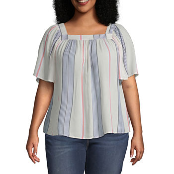 f8f72dc90e4 Plus Size Square Neck Tops for Women - JCPenney