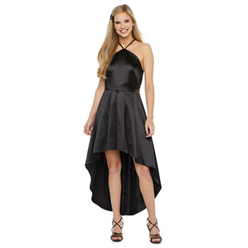 by&by Sleeveless Applique High-Low Party Dress-Juniors