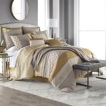 Image result for gold stripe bed spread