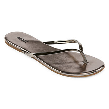 165d0d3a96b7f1 Mixit Silver Women s Sandals   Flip Flops for Shoes - JCPenney