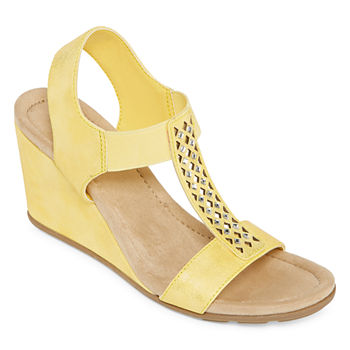88b8599b67c Wedge Sandals Yellow Women's Sandals & Flip Flops for Shoes - JCPenney