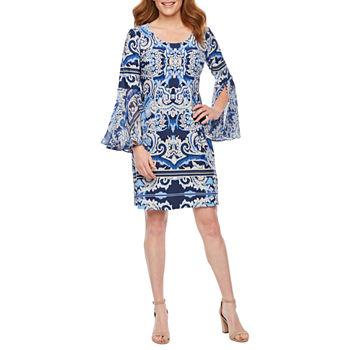 ab0ac32968a MSK Short Sleeve Floral Puff Print Shift Dress. Add To Cart. Denim.  37.49