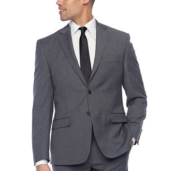 Collection by Michael Strahan Grey Texture Classic Fit Suit