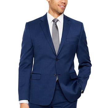 Collection by Michael Strahan Blue Texture Slim Fit Suit