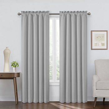 Eclipse Corin Blackout Rod-Pocket Single Curtain Panel