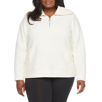 Stylus Plus Womens Long Sleeve Quarter-Zip Pullover