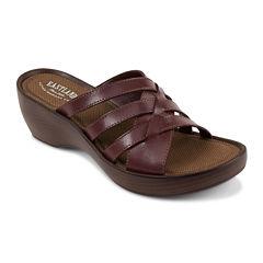 Eastland® Poppy Slip-On Leather Wedge Sandals