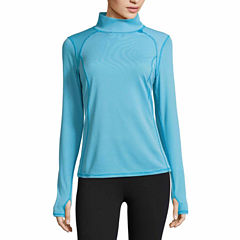 Xersion Long Sleeve Mock Neck T-Shirt-Talls
