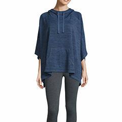 Xersion Sleeveless Hooded Neck Poncho-Talls