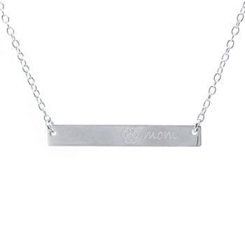 Silver Treasures Mom Pendant Necklace