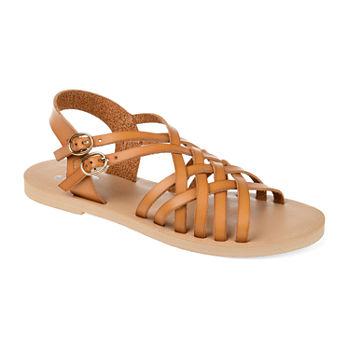 7e410fc90fde Flat Sandals Women s Sandals   Flip Flops for Shoes - JCPenney
