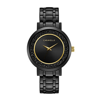 Caravelle Designed By Bulova Womens Black Stainless Steel Bracelet Watch - 45l181