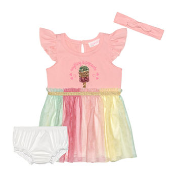 Young Hearts Baby Girls Short Sleeve Sundress