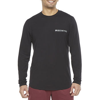 Msx By Michael Strahan Mens Crew Neck Long Sleeve Graphic T-Shirt
