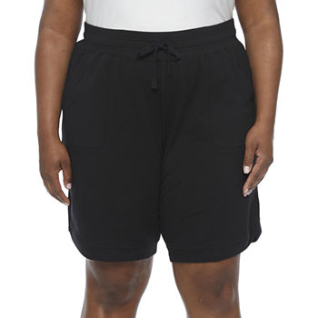 "St. John's Bay Womens 10"" Bermuda Short-Plus"