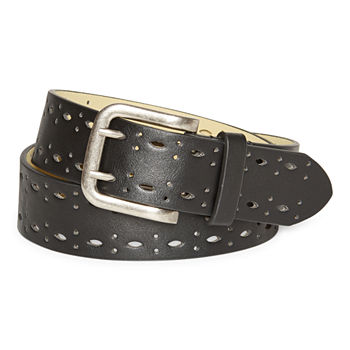 a.n.a Double Prong Edge Perforated Womens Belt