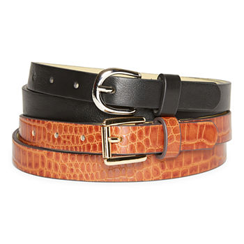 Liz Claiborne Skiiny 2 For 1 Set Womens Belt