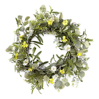 Linden Street Yellow Floral Wreath